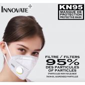 KN95 Protection Mask With Breathing Valve, 10 PC SET White CE Certified
