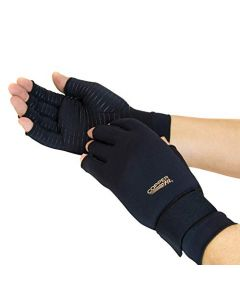 Copper Fit copper infused compression gloves for Hand Relief - Black