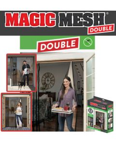 Magic Mesh Hands-Free Screen Door DOUBLE