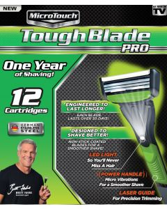 Microtouch® Tough Blade Pro • One Year of Shaving! Comes with 12 Cartridges.