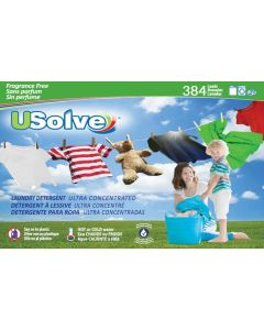 USolve™ Laundry Detergent Strips - Unscented - 384 Loads Super Bundle- In Plastic-Free Packaging- Free Delivery to your Door
