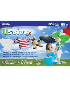 USolve™ Laundry Detergent Strips - Fresh Scent - 384 Loads Super Bundle (1 Year) - In Plastic-Free Packaging- Free Delivery to your Door