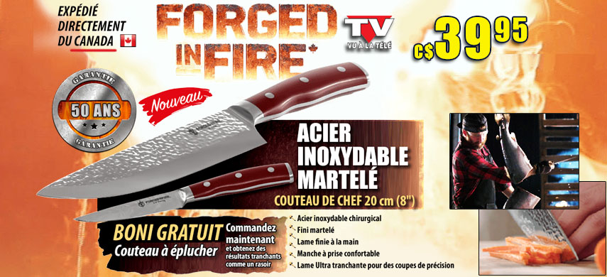 Couteau de chef Forged in Fire