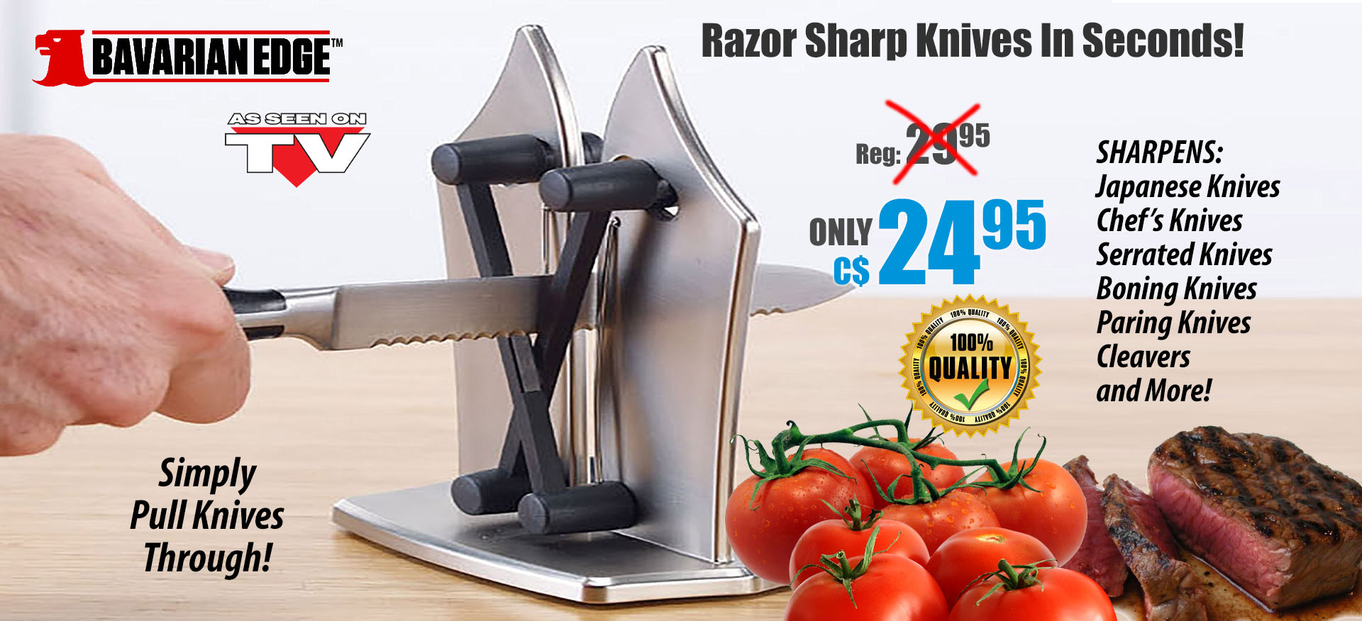 Bavarian Edge™ Knife Sharpener